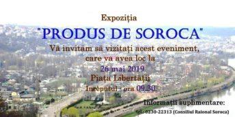 VĂ INVITĂM LA IARMAROCUL PRODUS DE SOROCA!